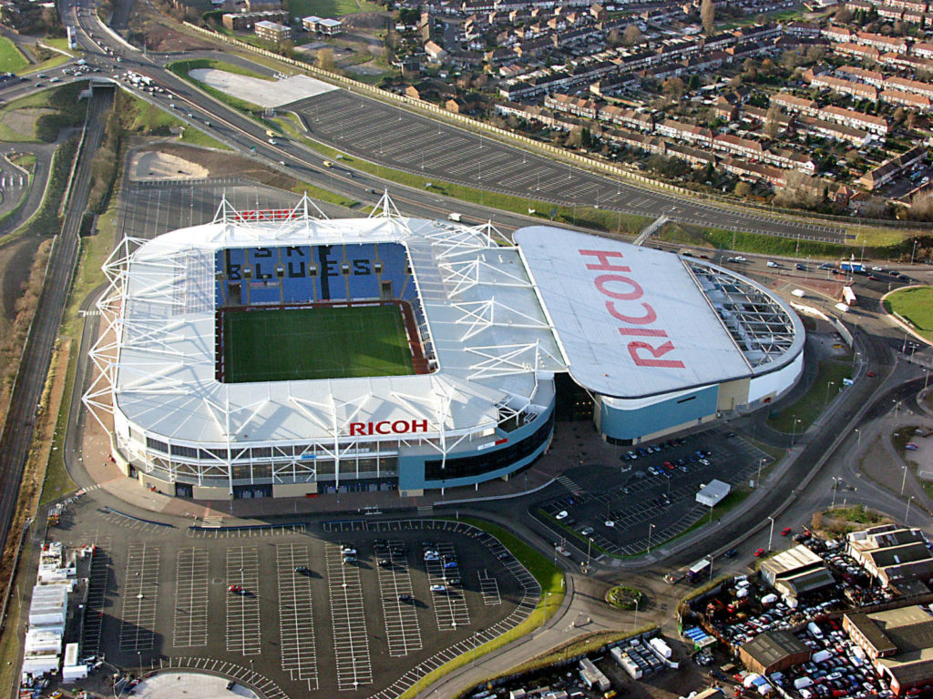 Birds eye view of Ricoh Arena