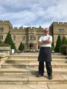 A full-length photograph of Jason Carty, Head Chef at Slaley Hall Hotel in Hexham